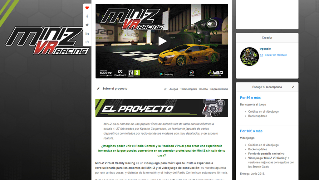 Página del proyecto en Ulule